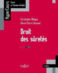 Dernières parutions sur Droit des sûretés, Droit des sûretés. Edition 2019