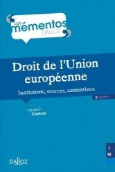 Dernières parutions sur Droit communautaire, Droit de l'Union européenne. Institution, sources, contentieux, 5e édition