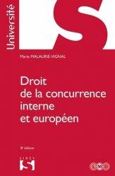 Dernières parutions dans Sirey Université, Droit de la concurrence interne et européen