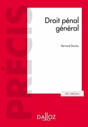 Dernières parutions dans Précis Dalloz, Droit pénal général. 26e édition