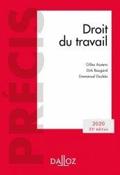 Dernières parutions dans Précis Dalloz, Droit du travail. Edition 2020