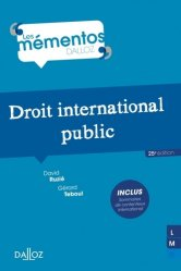 Dernières parutions dans Mémentos Dalloz, Droit international public. 25e édition