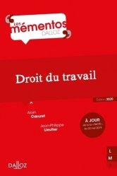 Dernières parutions dans Mémentos Dalloz. Série Droit Privé, Droit du travail. Edition 2020