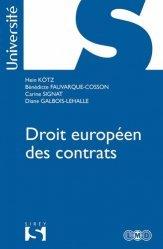 Dernières parutions dans Sirey Université, Droit européen des contrats