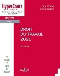 Dernières parutions sur Droit du travail et de l'emploi, Droit du travail. Edition 2021