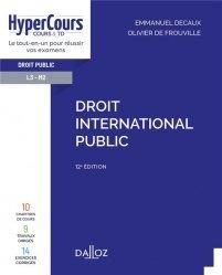 Dernières parutions dans HyperCours, Droit international public - 12e ed.