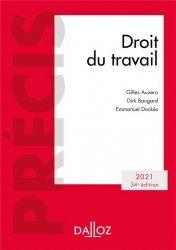Dernières parutions dans Précis Dalloz, Droit du travail