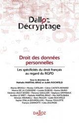 Dernières parutions sur Multimédia, Droit des données personnelles. Les spécificités du droit français au regard du RGPD