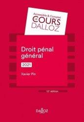 Dernières parutions sur Autres ouvrages de droit pénal, Droit pénal général 2021 - 12e ed.