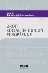 Dernières parutions dans Traités, Droit social de l'Union européenne. 2e édition