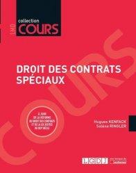 Dernières parutions dans Cours, Droit des contrats spéciaux. Edition 2017