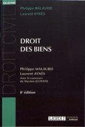 Dernières parutions dans Droit civil, Droit des biens. 8e édition