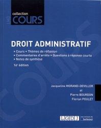 Dernières parutions dans Cours, Droit administratif. Cours, réflexions et débats, 16e édition