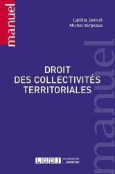 Dernières parutions dans Manuels, Droit des collectivités territoriales