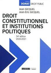 Dernières parutions sur Droit constitutionnel, Droit constitutionnel et institutions politiques