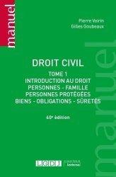 Dernières parutions sur Droit des obligations, Droit civil tome 1, 40eme ed