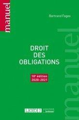 Dernières parutions sur Droit des obligations, Droit des obligations, 10eme ed
