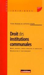 Dernières parutions dans Guides juridiques, Droit des institutions communales