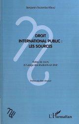 Dernières parutions dans Notes de cours, Droit international public. Les sources