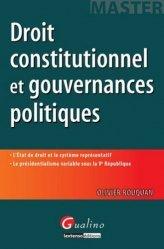 Dernières parutions dans Master, Droit constitutionnel et gouvernances politiques