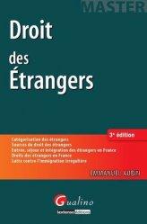 Dernières parutions dans Master, Droit des étrangers . 3e édition