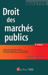 Dernières parutions dans Master, Droit des marchés publics. 6e édition