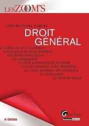 Dernières parutions dans Les Zoom's, Droit général. 6e édition