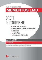 Dernières parutions dans Fac Universités : Mémentos LMD, Droit du tourisme