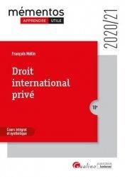 Dernières parutions dans Mémentos LMD, Droit international privé