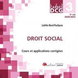 Dernières parutions dans Les Carrés, Droit social DCG 3