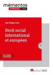 Dernières parutions dans MEMENTOS LMD, Droit social international et européen