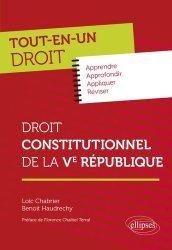 Dernières parutions sur Droit constitutionnel, Droit constitutionnel de la Ve République
