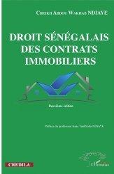 Dernières parutions dans Harmattan Sénégal, Droit sénégalais des contrats immobiliers