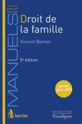 Nouvelle édition Droit de la famille. 5e édition