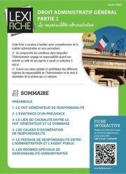 Dernières parutions dans Lexifiche, Droit administratif général partie 2. La responsabilité administrative, 4e édition