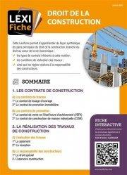 Dernières parutions sur Immobilier et droit de la construction, Droit de la construction