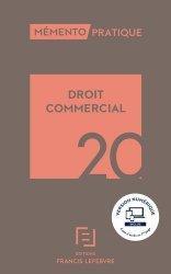 Dernières parutions sur Autres ouvrages de droit des affaires, Droit commercial. Edition 2020