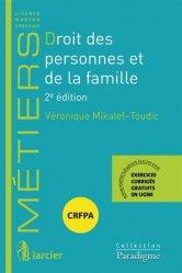 Nouvelle édition Droit des personnes et de la famille. 2e édition