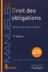 Nouvelle édition Droit des obligations. 7e édition