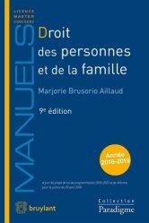 Nouvelle édition Droit des personnes et de la famille. Edition 2018-2019