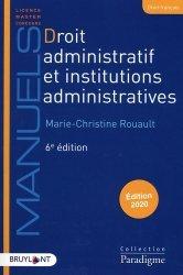 Dernières parutions sur Droit administratif général, Droit administratif et institutions administratives. Edition 2020