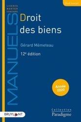 Dernières parutions dans Paradigme - Manuels, Droit des biens. 12e édition