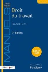 Dernières parutions dans Paradigme - Manuels, Droit du travail. Edition 2020