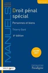 Dernières parutions sur Autres ouvrages de droit pénal, Droit pénal spécial. Personnes et biens