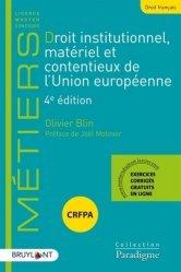 Dernières parutions sur Droit européen : textes, Droit institutionnel, matériel et contentieux de l'Union européenne