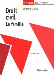 Dernières parutions dans domat droit prive, Droit civil. La famille, 9e édition