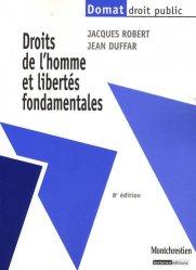 Dernières parutions dans domat droit prive, Droits de l'homme et libertés fondamentales. 8e édition