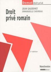 Dernières parutions dans domat droit prive, Droit privé romain. 3e édition