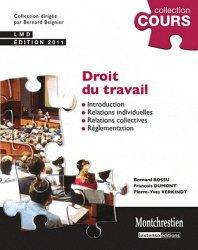 Dernières parutions dans Cours, Droit du travail. Edition 2011
