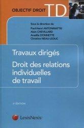 Dernières parutions dans Objectif Droit TD, Droit des relations individuelles de travail. 5e édition